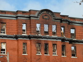 Digital images of the Hotel Quinte after the 2012 fire