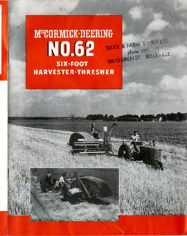 McCormick-Deering No. 62 Six-Foot Harvester-Thresher
