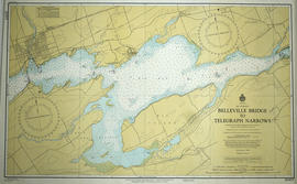 Hydrographic Map of Belleville Bridge to Telegraph Narrows