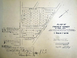 Plan of Francis Survey of Town Lots in Trenton