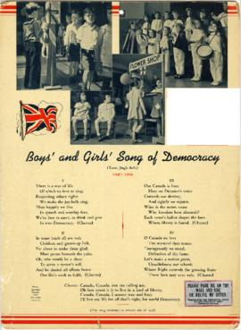 Boys' and Girls' Song of Democracy