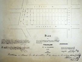 Plan of a tier of lots in Thurlow for E.H. Coleman