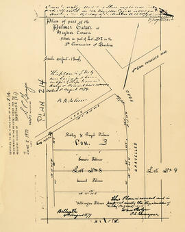Plan of the Palmer Estate at Hayden's Corners
