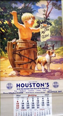 1957 Calendar produced by Houston's of Belleville