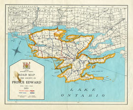 Road Map of Prince Edward County 1955
