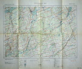 Topographical map of Tweed - Canada sheet