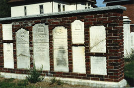 Grave stones in wall of St. Thomas Church