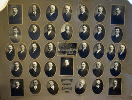 Collage of photographs of Hastings County Council members