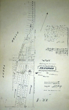 Plan of Turley Property in the village of Frankford