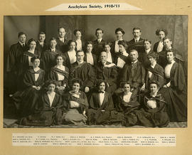 Photograph of the Aeschylean Society, Queen's University