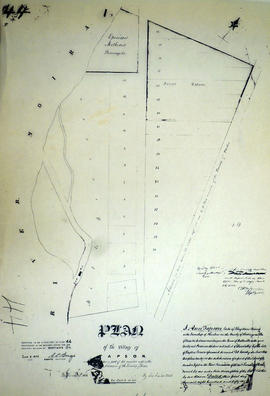 Plan of Tapson village in the Township of Thurlow