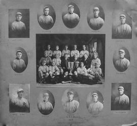 Digital copy of photographic collage of Grand Trunk Railway baseball team