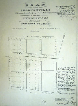 Plan of north Shannonville in the Township of Tyendinaga