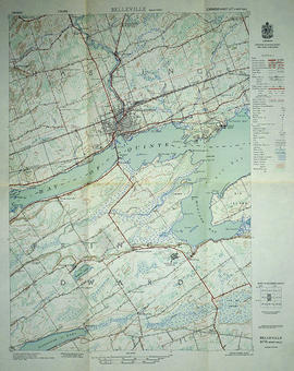 Topographical map of Belleville - west half