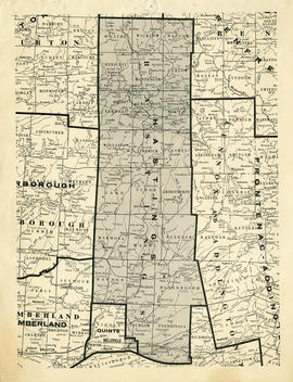 Map of Hastings County and Townships