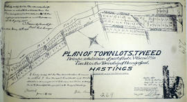 Subdivision of Town Lots 11-12 in the village of Tweed
