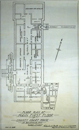 First Floor Plan at County Court House