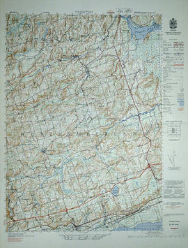 Topographical Map of west Trenton - Canada sheet