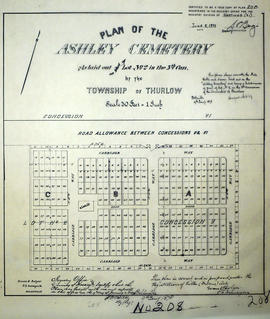 Plan of Ashley Cemetery in the Township of Thurlow