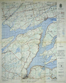 Topographical Map of Belleville - Canada sheet - east half