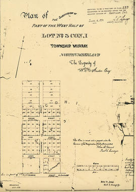 Plan of part of Lot 3 in the Township of Murray