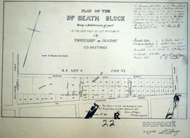 Plan of McBeath Block in the Township of Madoc