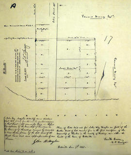 Plan of Lots in the Town of Belleville for John Maybee