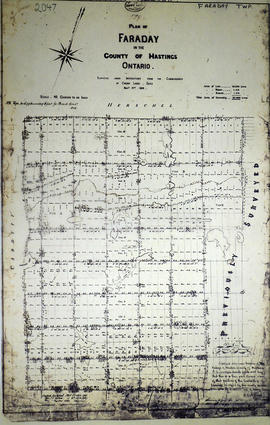 Plan of Faraday for Crown Commissioner