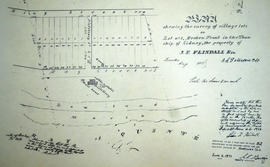 Plan of Village lots on Lot 1 in the town of Trenton