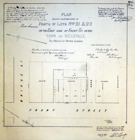 Plan of Subdivision of Lots 21-22 in the town of Belleville