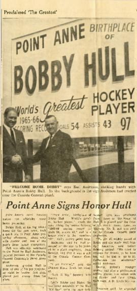 Point Anne Signs Honor Hull