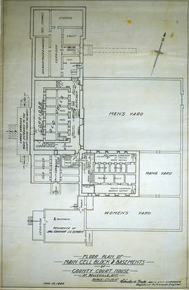 Cell Block and Basement Plans at Court House