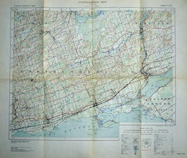 Topographical map of Trenton - Canada sheet
