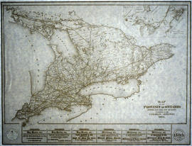 Copy of a Map of the Province of Ontario showing Railways