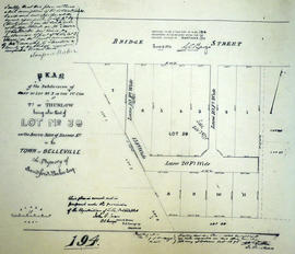 Plan of Baker's Block in the Town of Belleville