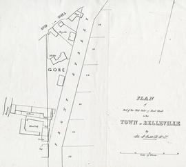 Plan of Part of the west side of Front Street in the Town of Belleville