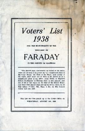 Faraday Township Voters List