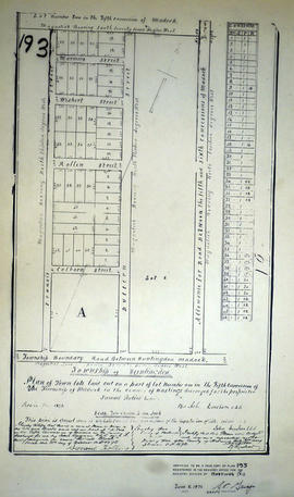 Plan of Rollins Block in the Township of Madock