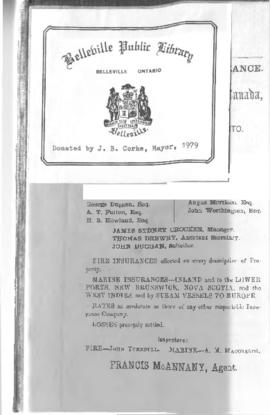 1868-69 Directory of the County of Hastings
