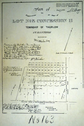 Plan of William Bleecker Block in Belleville