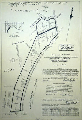 Subdivision of Broken Lots 21-22 in the Township of Bangor