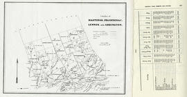 Map of Hastings, Frontenac, Lennox and Addington 1850 reprint