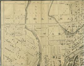 Map of Belleville by Evans & Bolger 1877