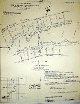 Subdivision of part of Broken Lots 28-29 in the Township of McClure
