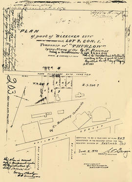 Plan of Bleecker Estate in the Township of Thurlow