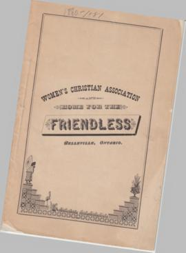 Second Annual Report of the Women's Christian Association and Home for the Friendless