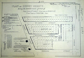 Subdivision of Sidney Heights in the Town of Trenton
