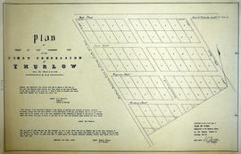 Plan of Part of Lot #1 in the Township of Thurlow