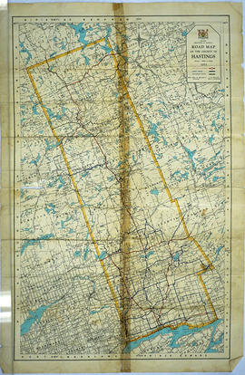 Road Map of Hastings County 1953