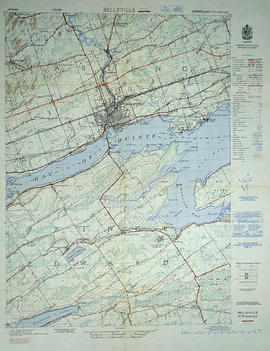 Topographical Map of west Belleville - Canada sheet